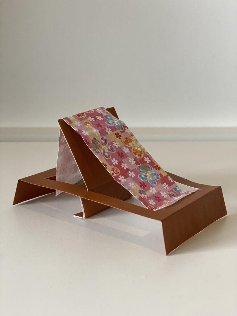 折り紙で機織り